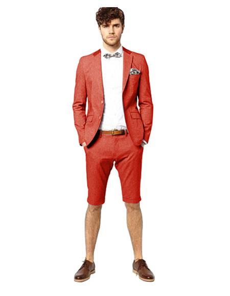 Red Single Breasted Suit