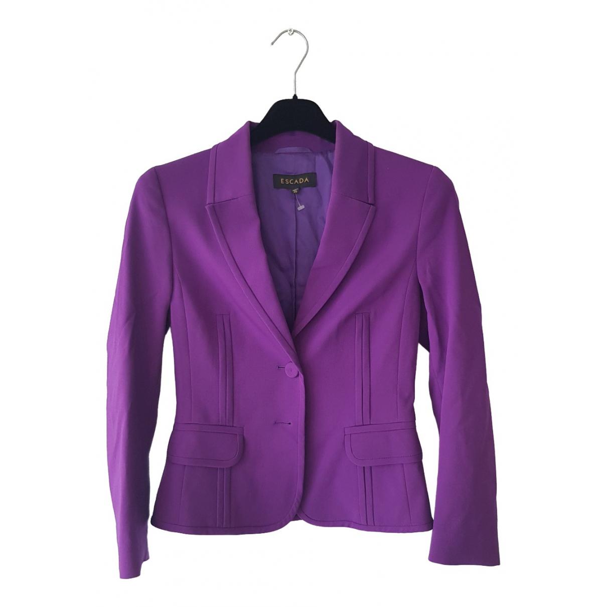 Escada - Veste   pour femme en soie - violet