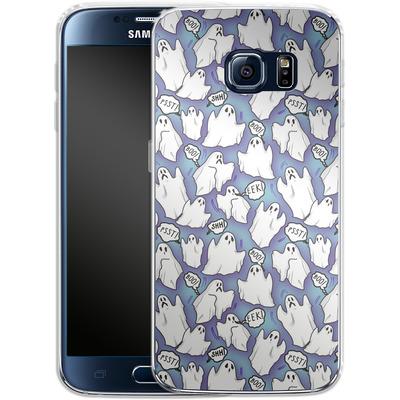 Samsung Galaxy S6 Silikon Handyhuelle - Ghost Pattern von caseable Designs