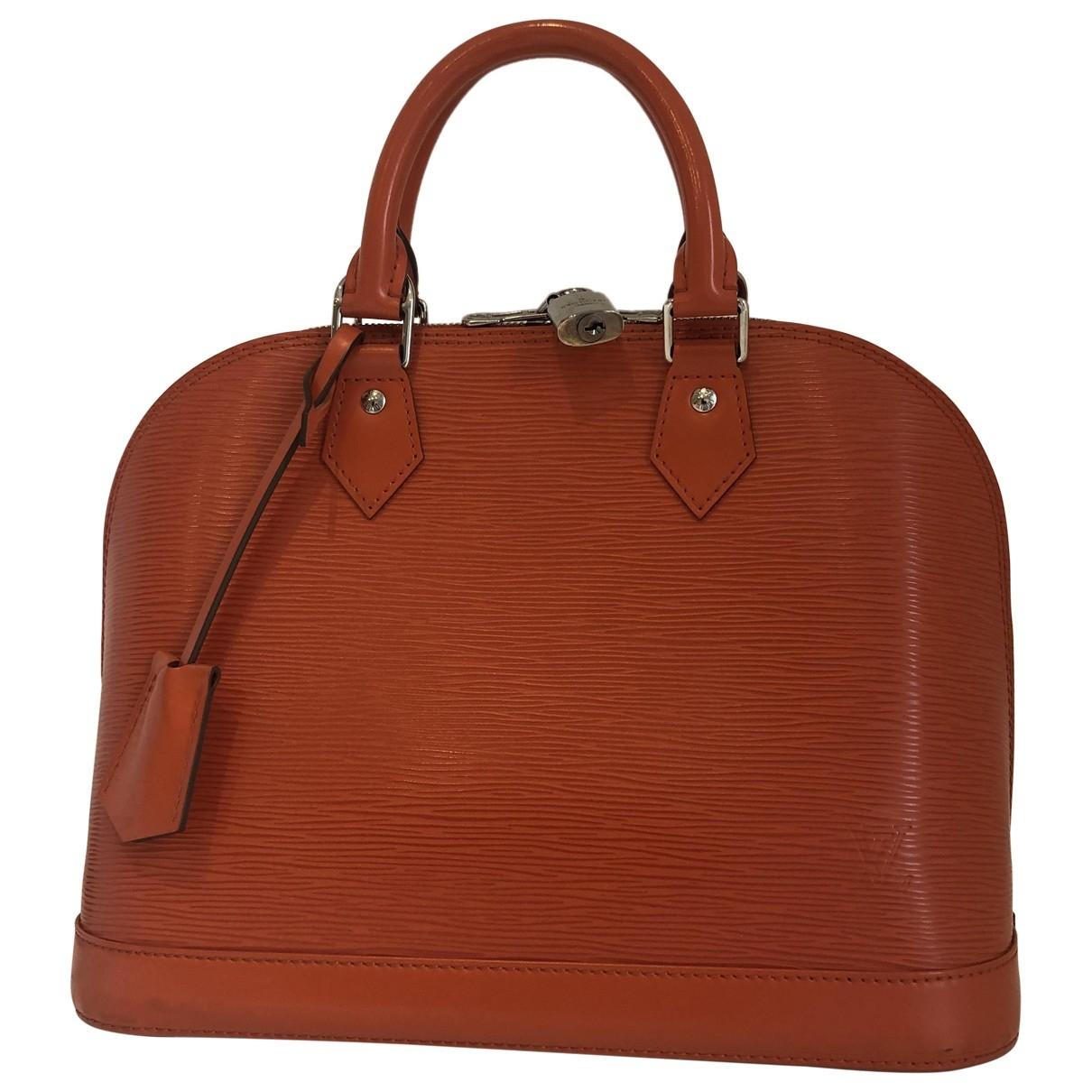 Louis Vuitton - Sac a main Alma pour femme en cuir - orange