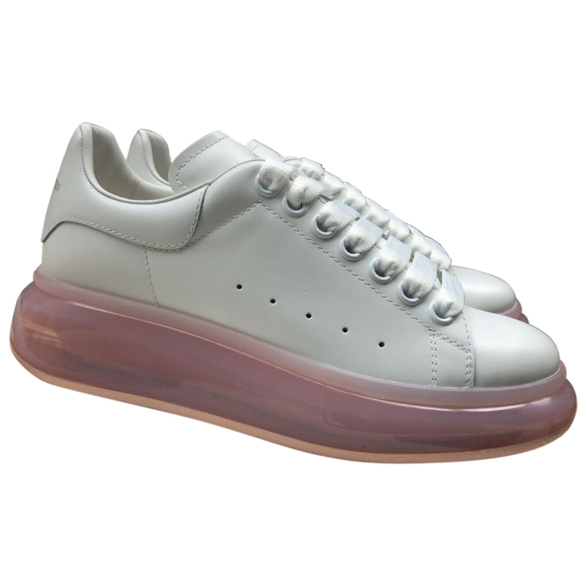 Alexander Mcqueen Oversize White Leather Trainers for Women 38.5 EU