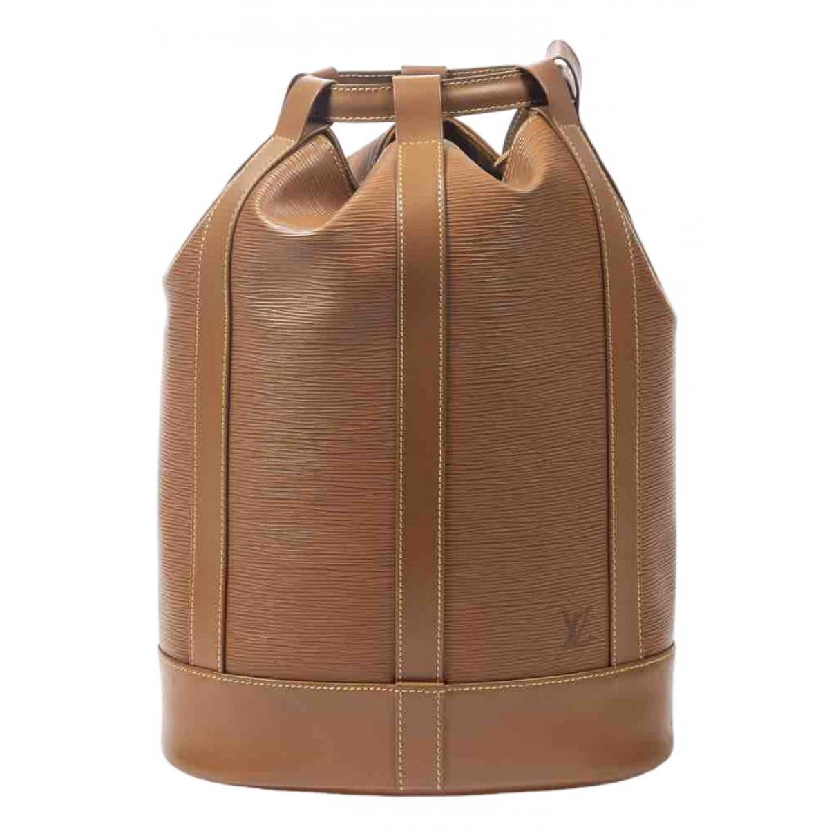 Louis Vuitton - Sac a dos Randonnee pour femme en cuir - marron
