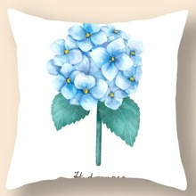 Hydrangea Print Cushion Cover Without Filler