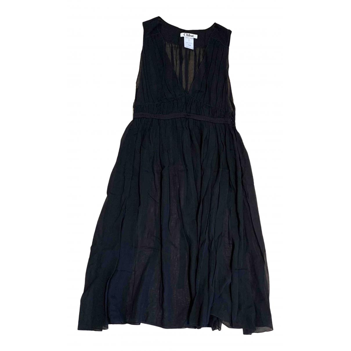 Chloe - Robe   pour femme en coton - noir