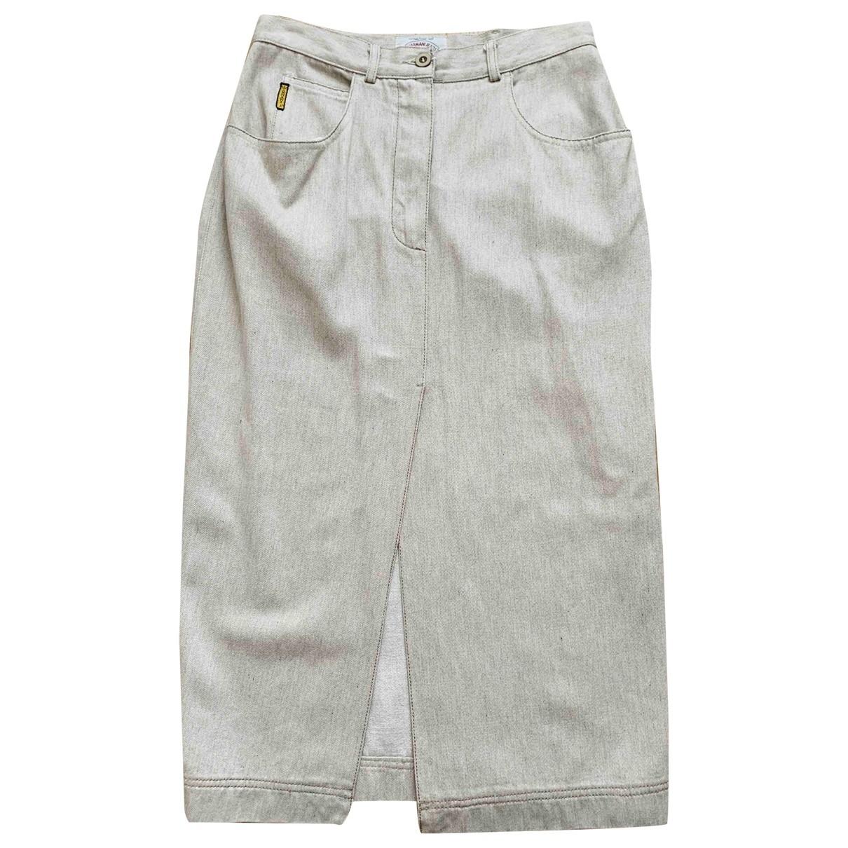 Armani Jeans \N Rocke in  Beige Viskose