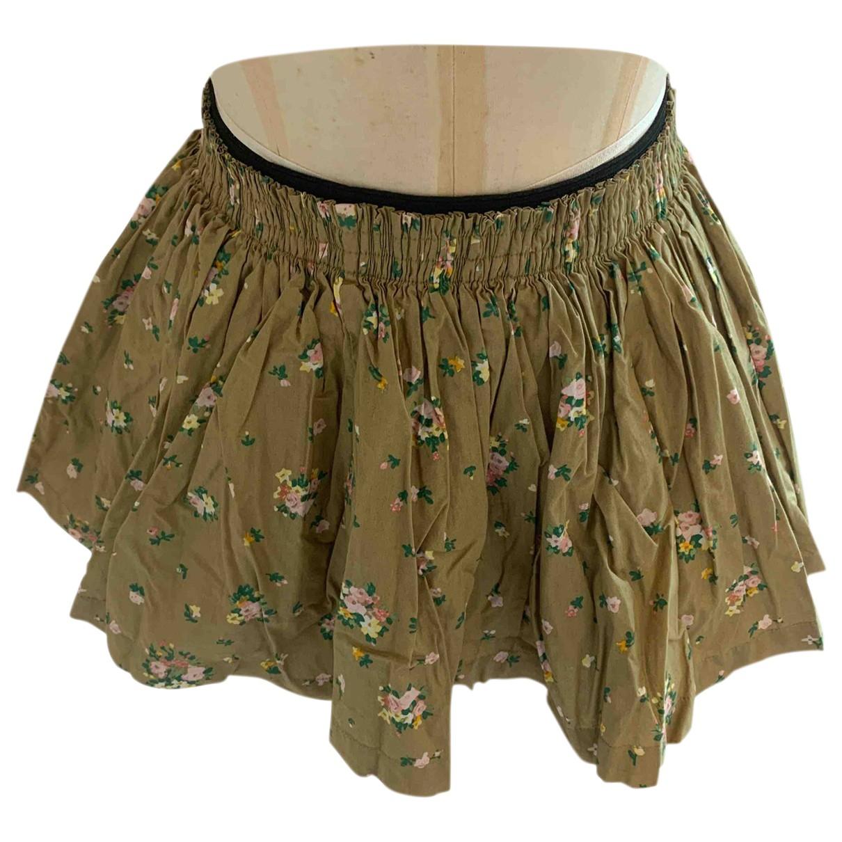 Jack Wills \N Khaki Cotton skirt for Women 14 UK