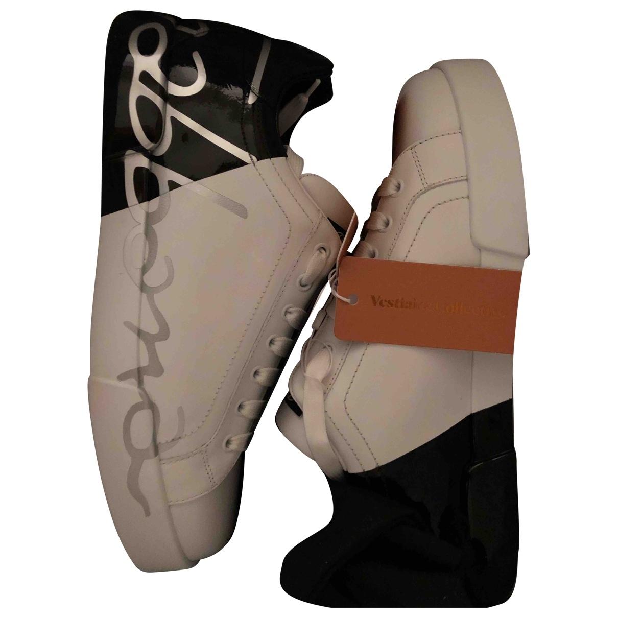 Dolce & Gabbana - Baskets Portofino pour homme en cuir - blanc