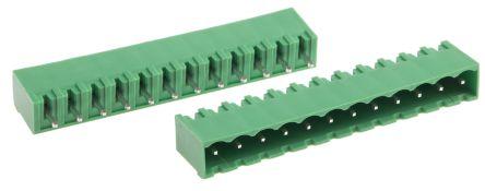 RS PRO , 12 Way, 1 Row, Straight PCB Terminal Block Header (10)