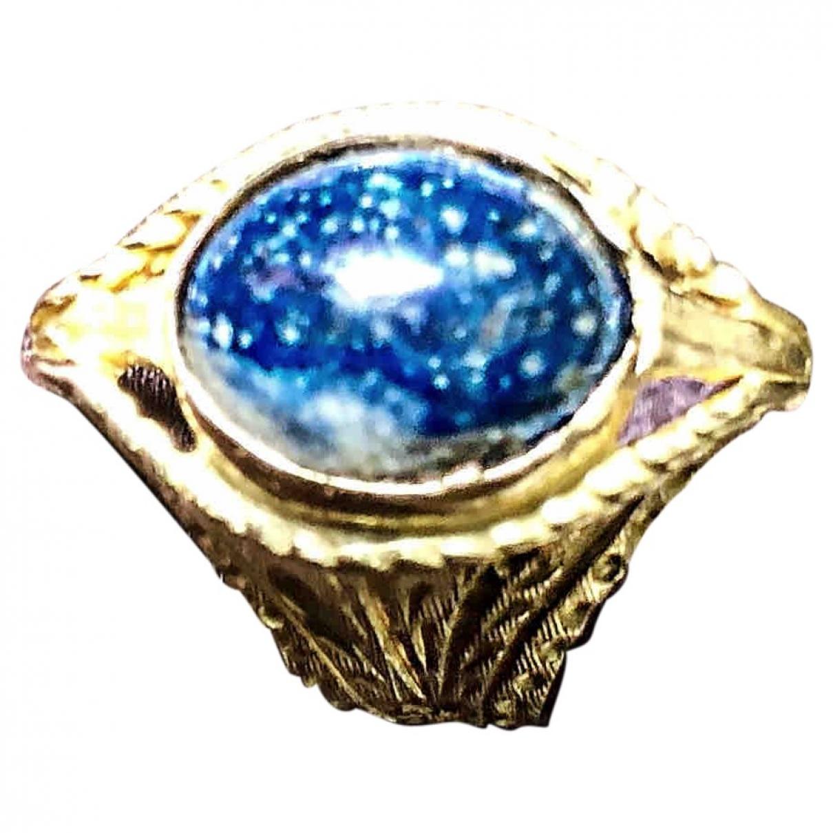 - Bague Lapis lazuli pour femme en or jaune - dore