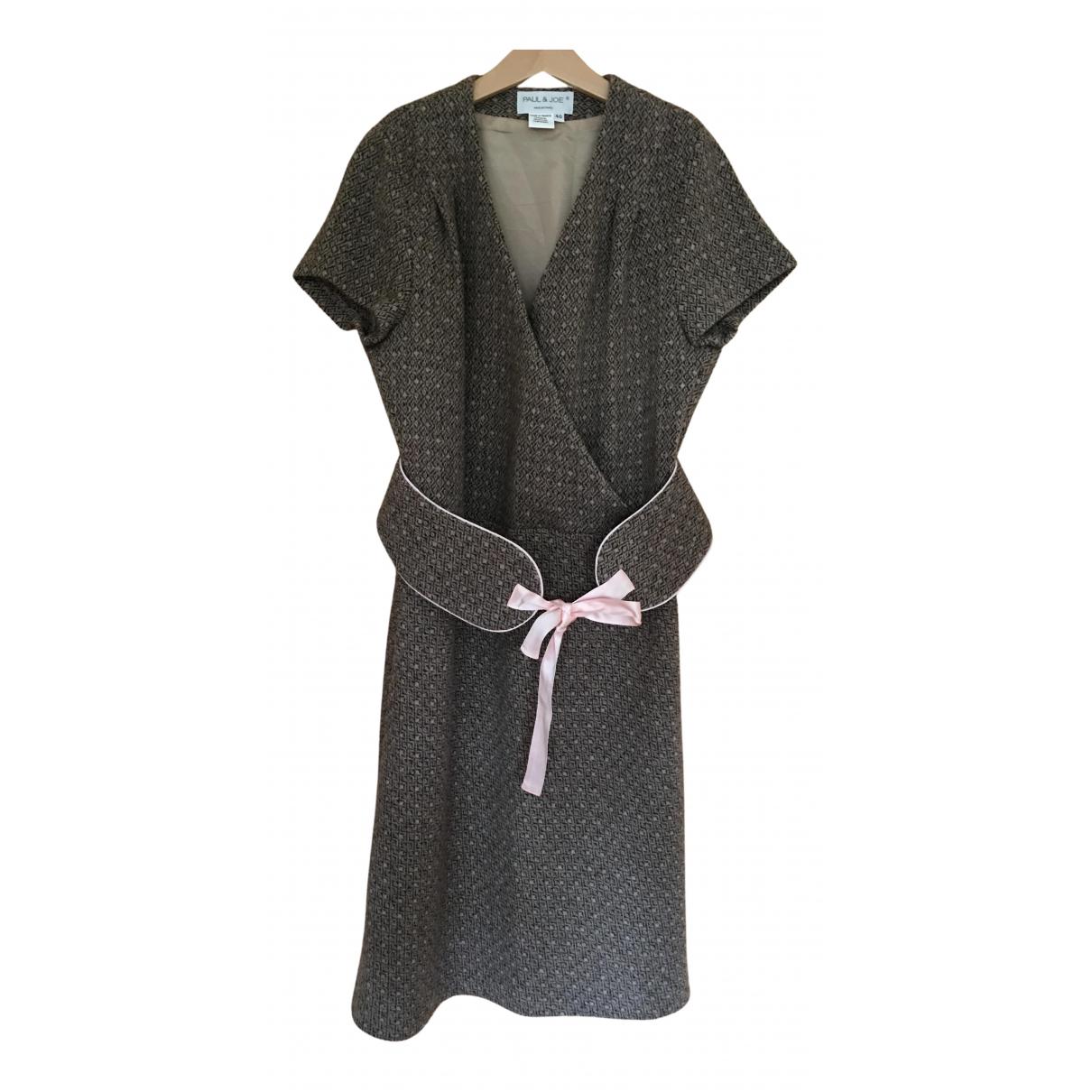 Paul & Joe - Robe   pour femme en laine - beige