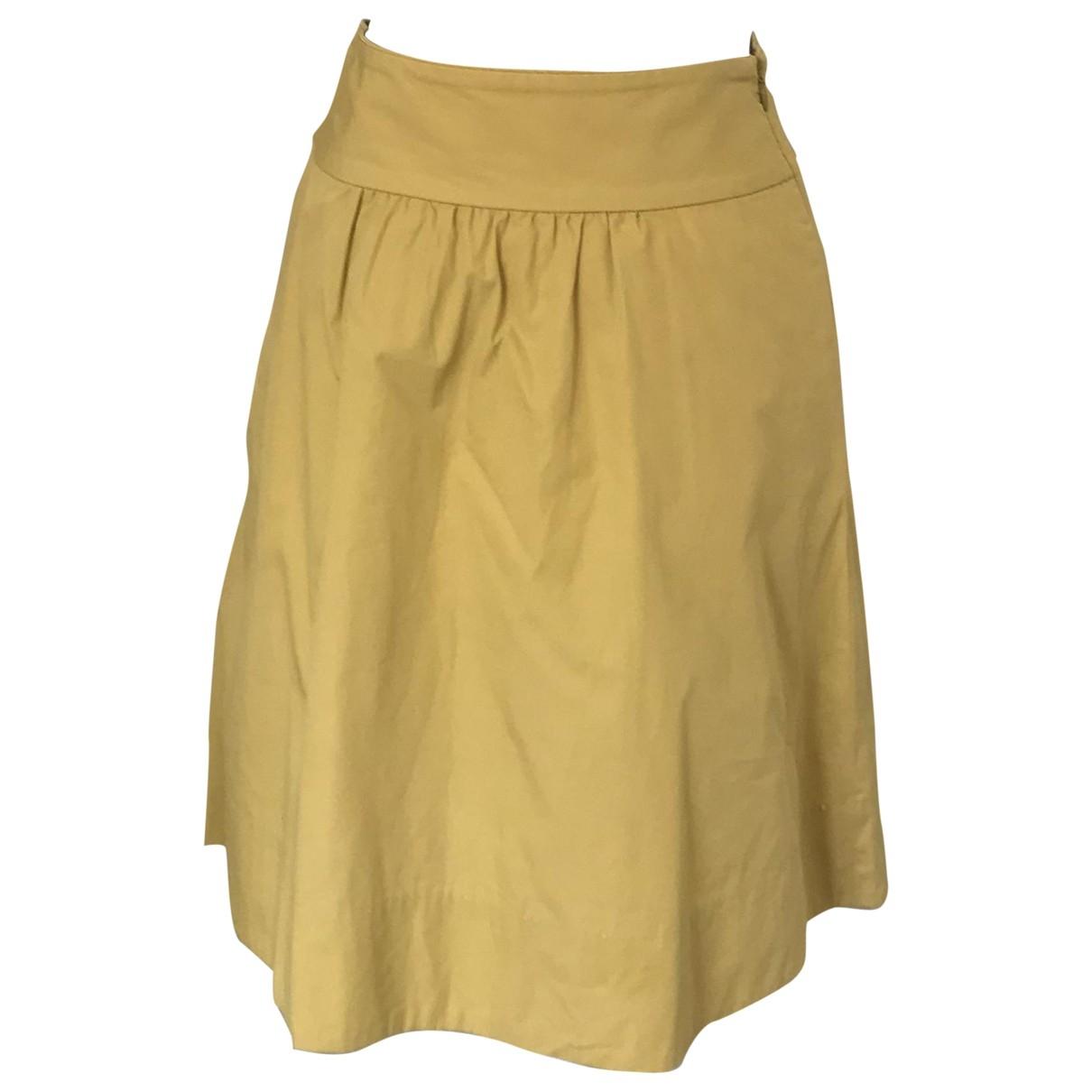J.crew - Jupe   pour femme en coton - jaune