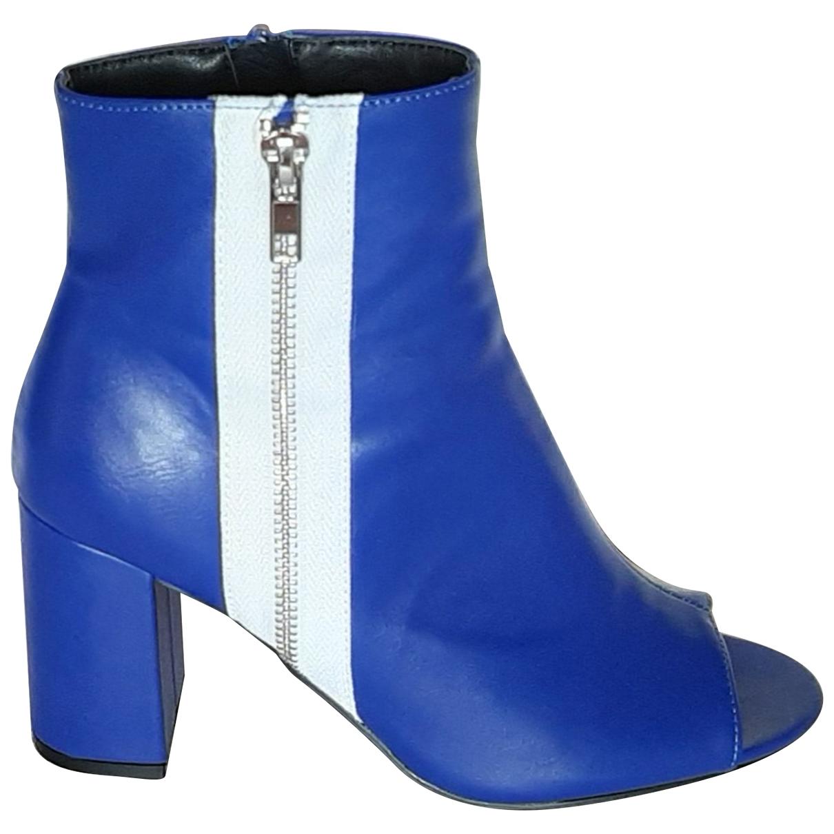Non Signe / Unsigned \N Stiefeletten in  Blau Polyester