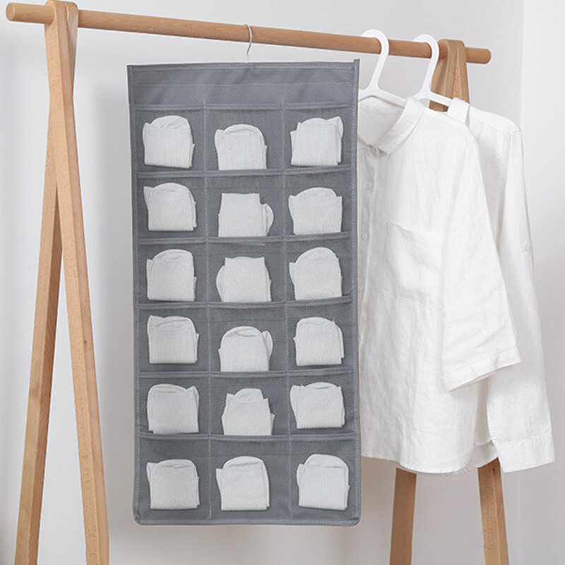 Storage Hanging Bag Hanging Oxford Cloth Wall Hanging Fabric Large Capacity Double Underwear Socks Storage Bag