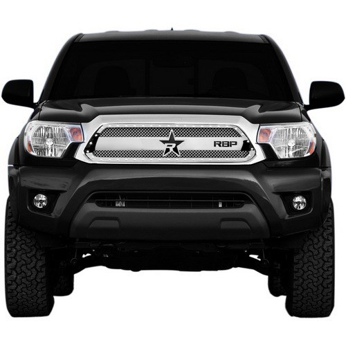 RBP Chrome RX-3 Series Studded Frame 1pc. Grille Toyota Tacoma 12-14