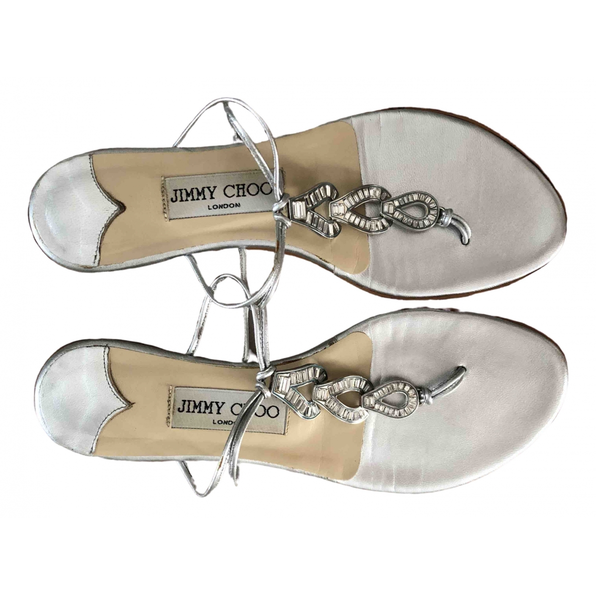 Jimmy Choo \N Silver Leather Sandals for Women 37 IT