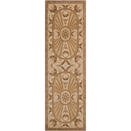 Momeni Elizabeth Hand-Carved Wool Runner Rug, One Size , Brown