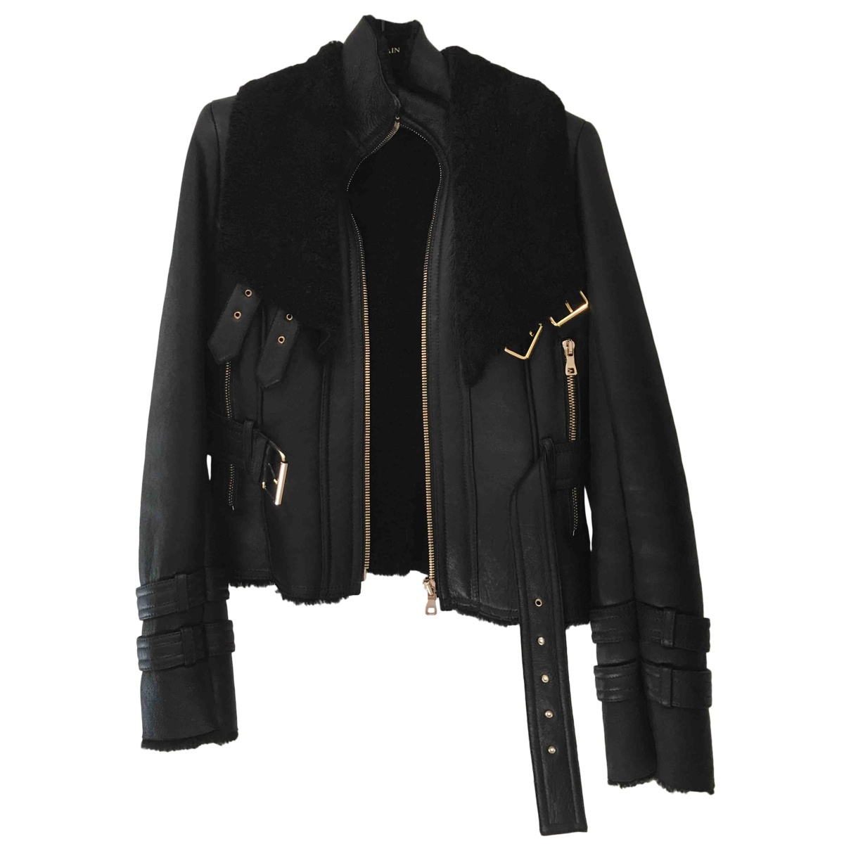 Balmain \N Black Fur jacket for Women 40 FR