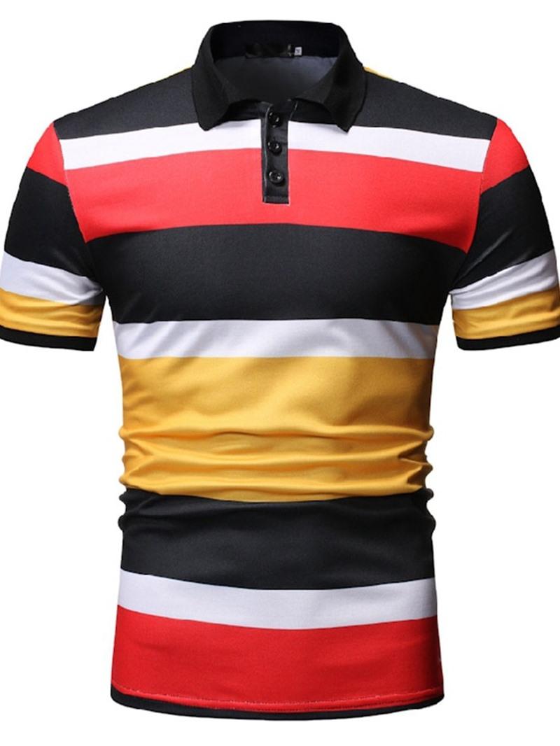 Ericdress Casual Button Mens Polo Neck Shirt