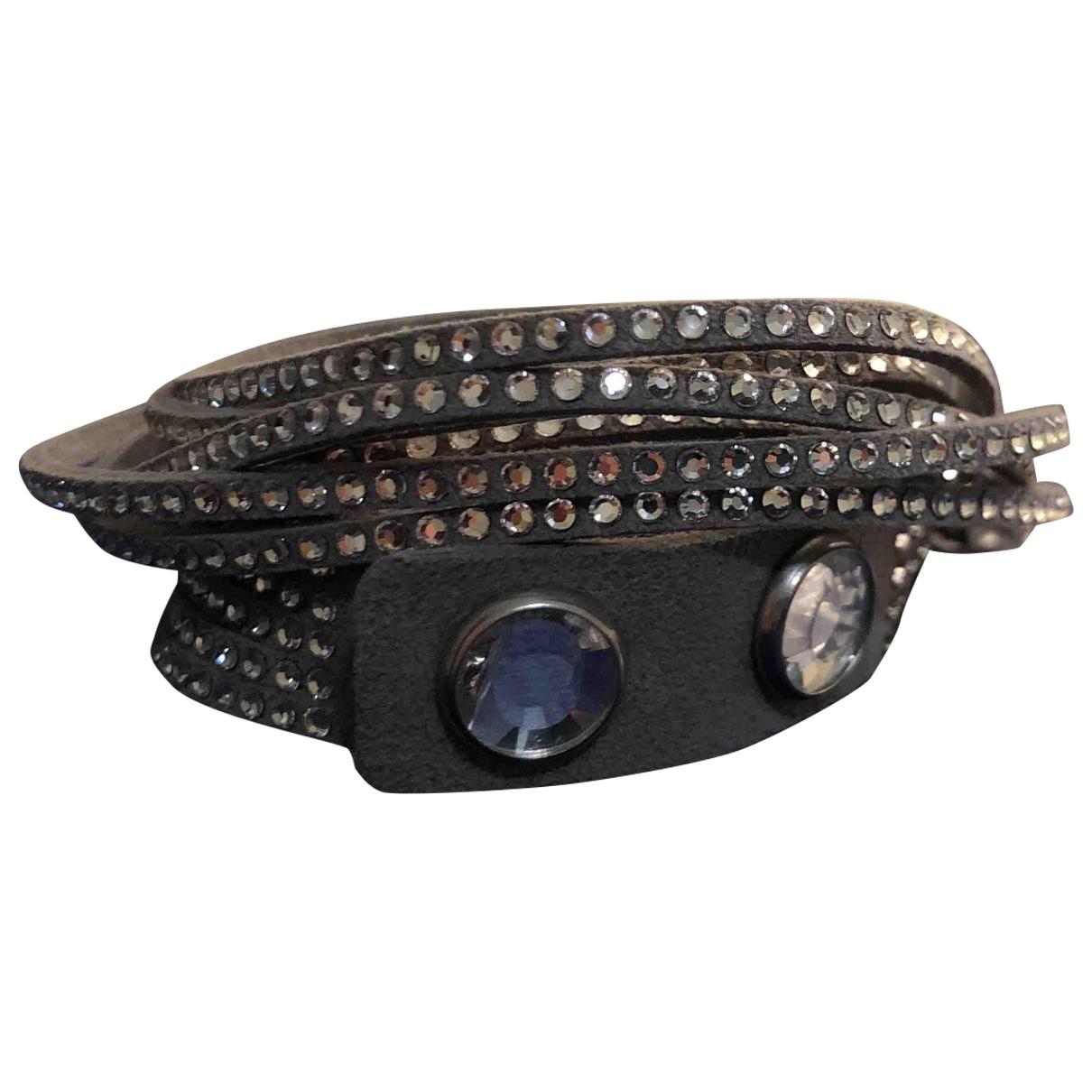 Swarovski - Bracelet Slake pour femme en cuir - gris
