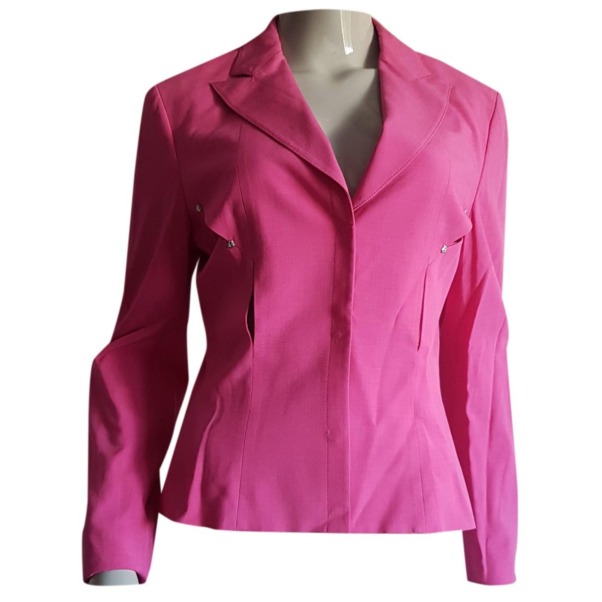 Versace N Pink Wool jacket for Women 42 IT