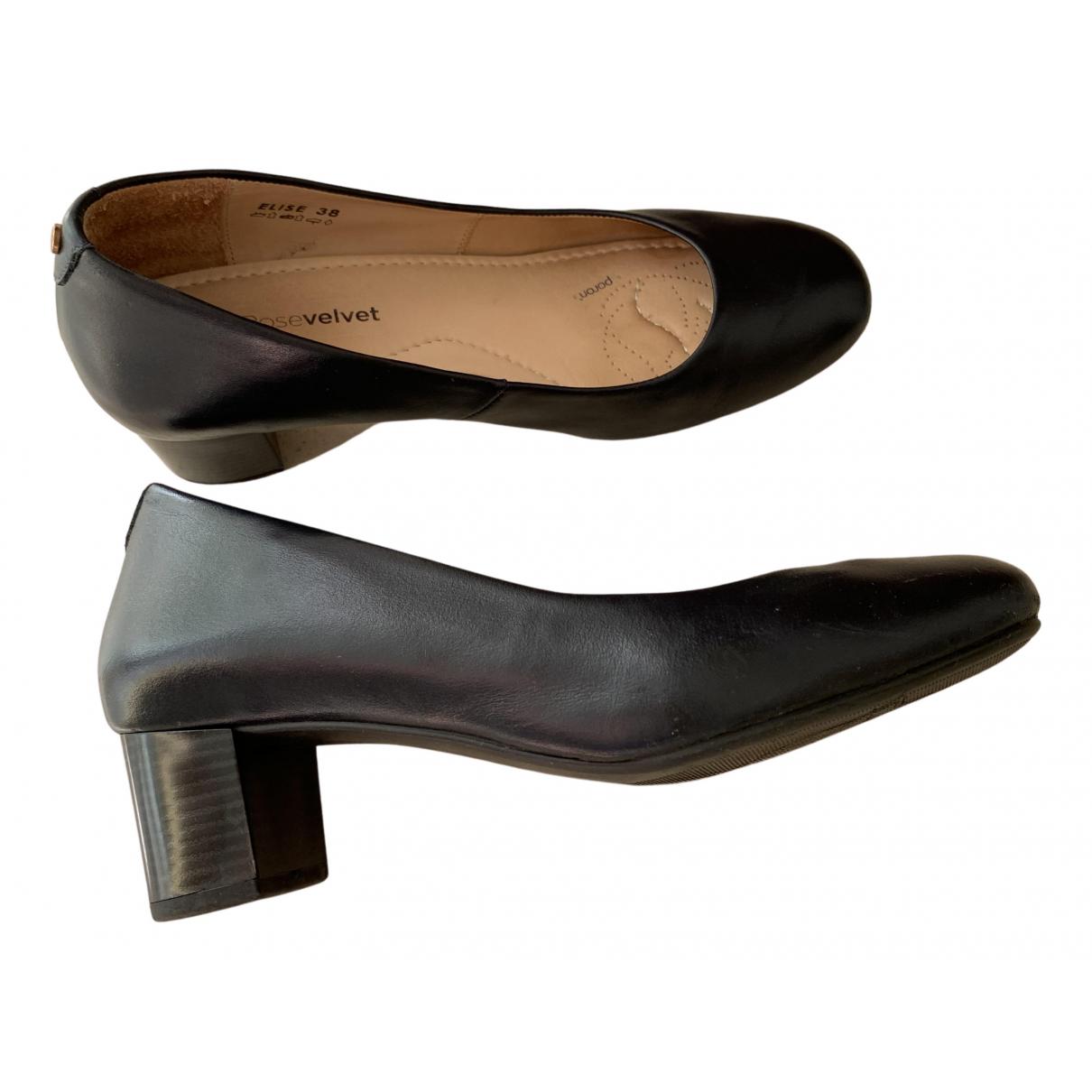 - Escarpins   pour femme en cuir - marine