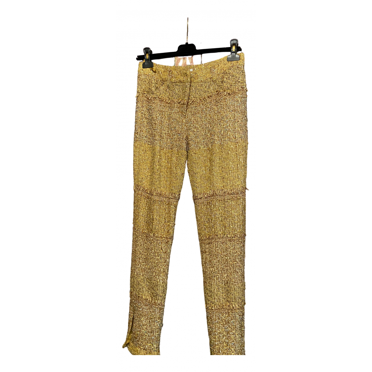Chanel \N Gold Trousers for Women 36 FR