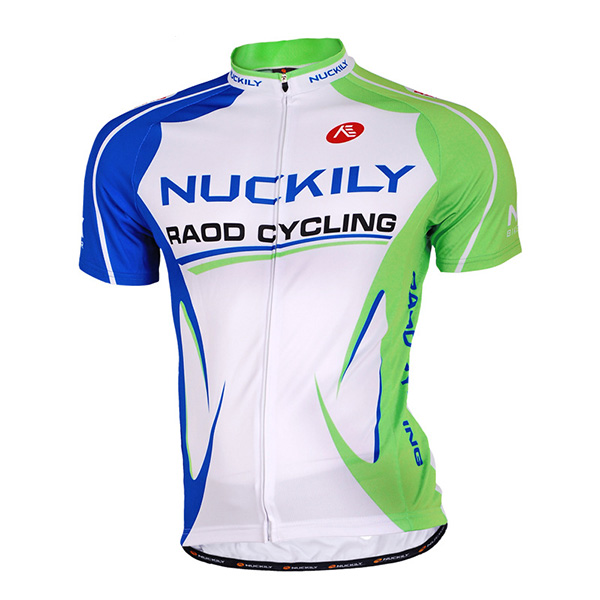 Male White Breathable Road Bike Jersey Full Zipper Quick-Dry Cycling Jersey