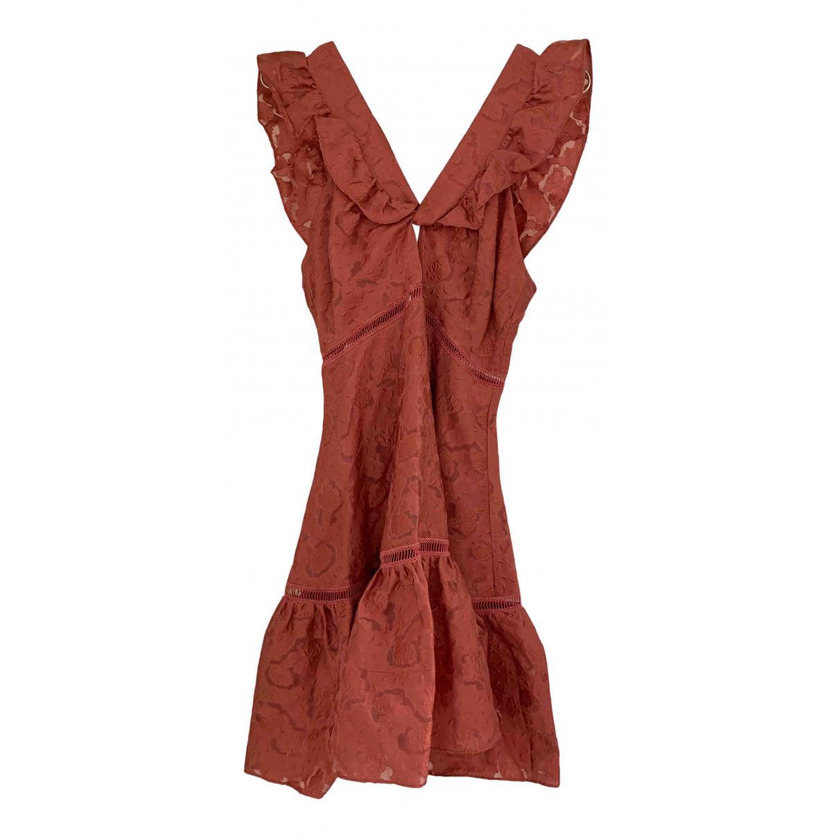 Rebecca Taylor \N Kleid in  Rosa Baumwolle