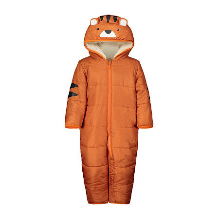 Carter's Baby Boys Heavyweight Animal Snow Suit, 6-9 Months , Orange