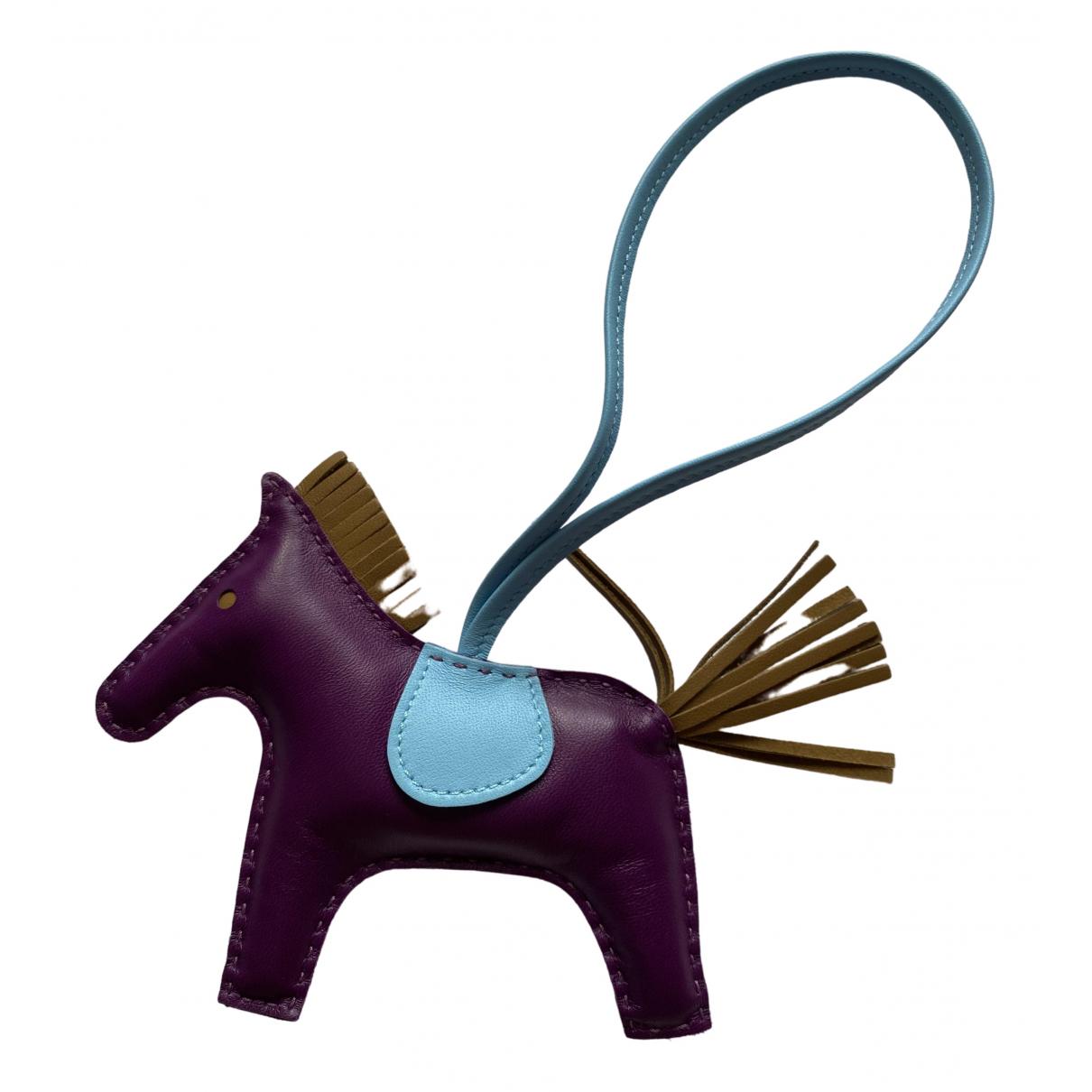 Hermes - Bijoux de sac Rodeo pour femme en cuir - multicolore