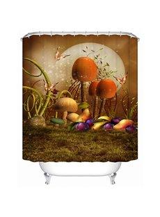 Wonderful Fancy Fairytale Mushroom 3D Shower Curtain