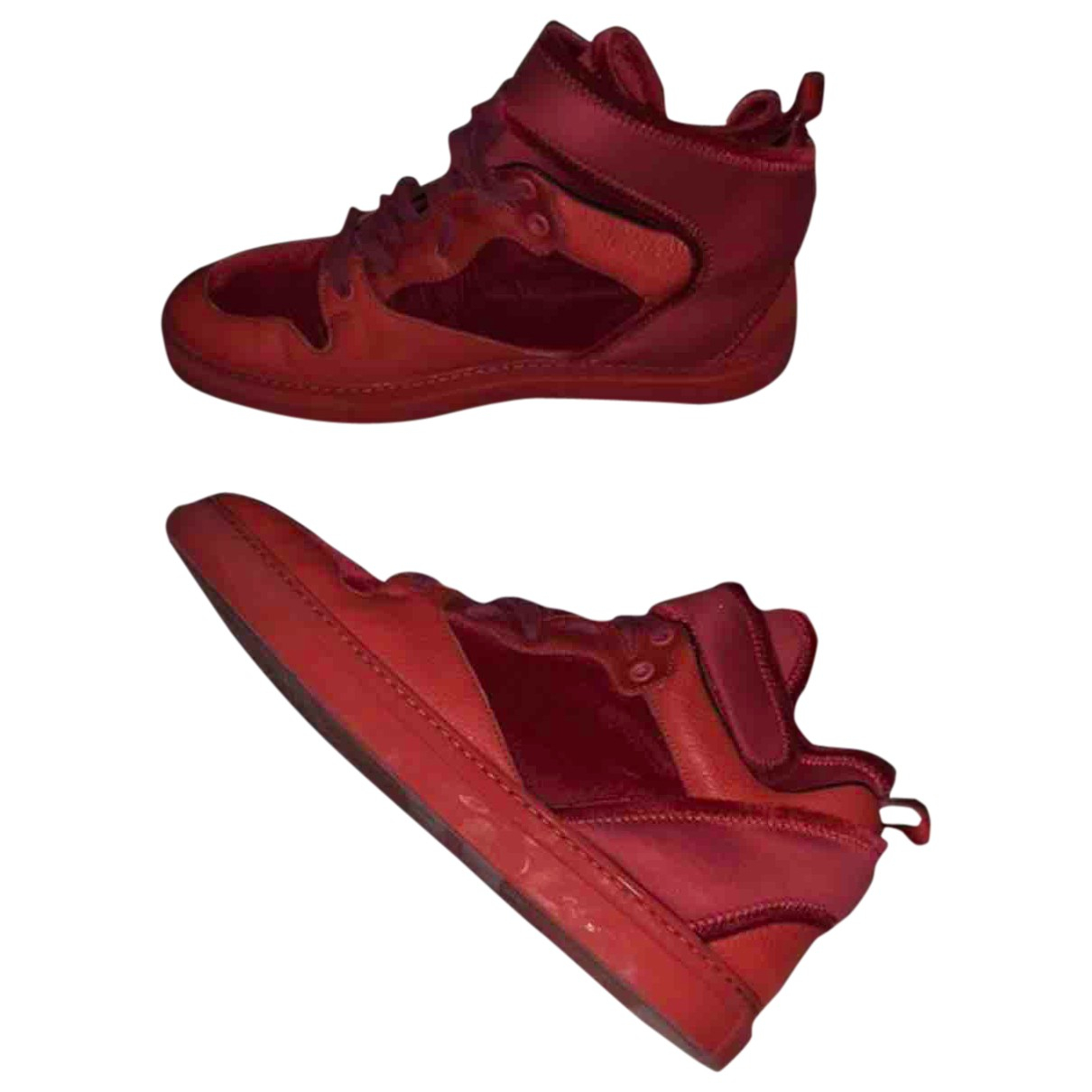 Balenciaga \N Red Leather Trainers for Men 41 EU