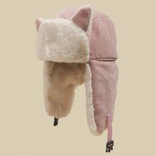 Warmer Hut mit Schnalle Detail