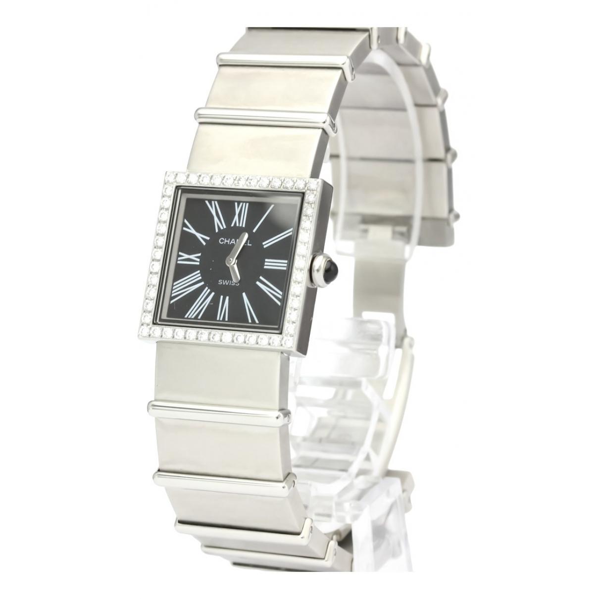 Chanel Mademoiselle Uhr in  Schwarz Stahl
