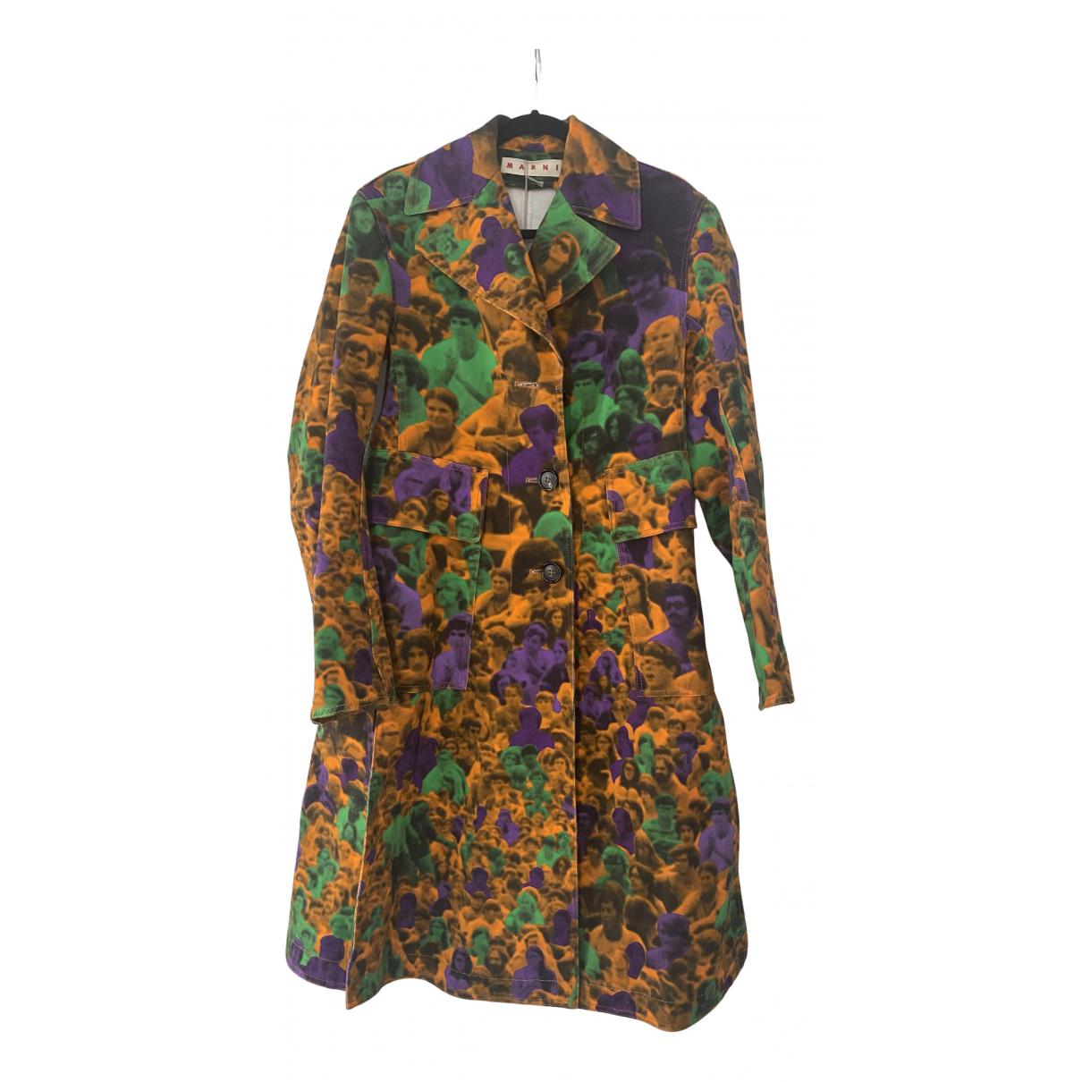 Marni - Manteau   pour femme en coton - multicolore
