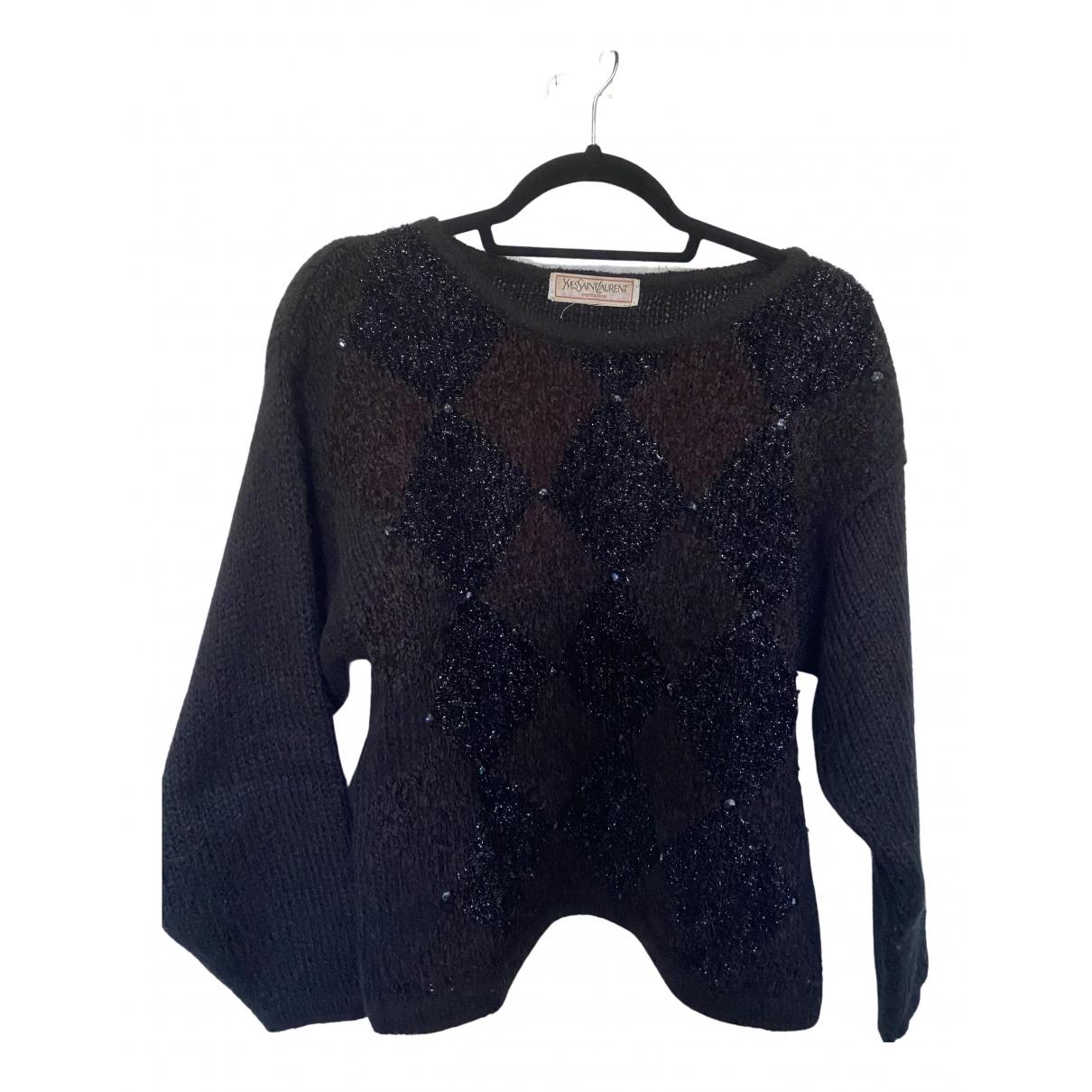 Yves Saint Laurent - Pull   pour femme en laine - noir