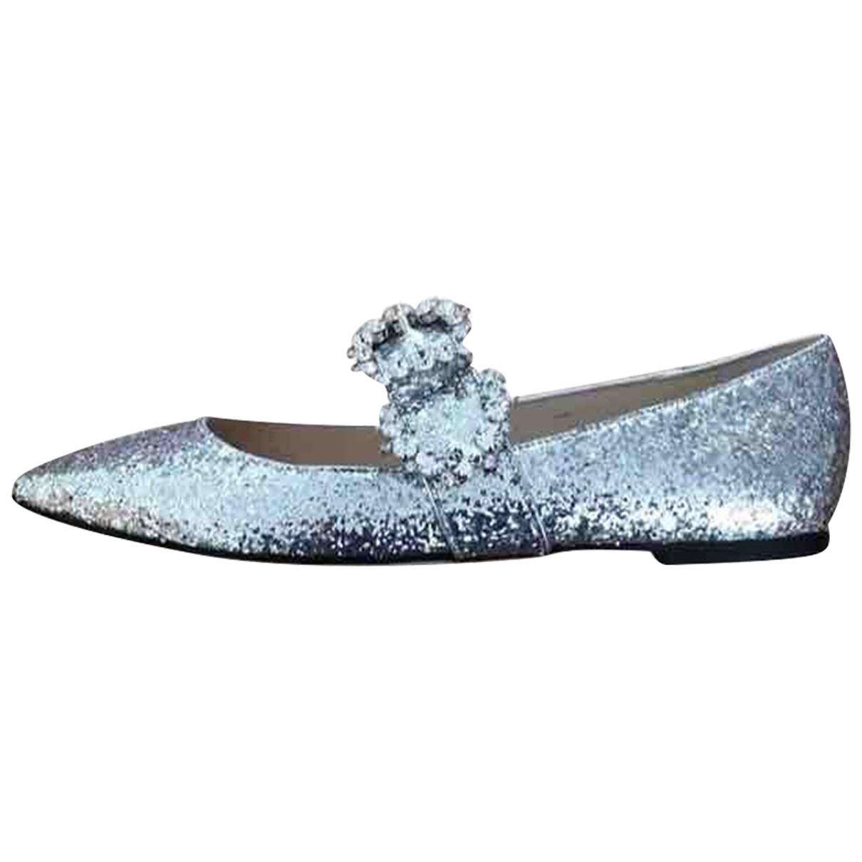 Jimmy Choo \N Ballerinas in  Silber Mit Pailletten