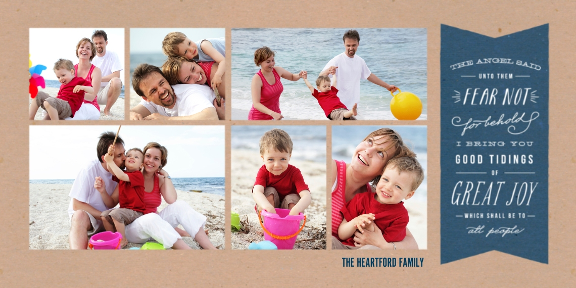 Holiday Photo Cards Flat Glossy Photo Paper Cards with Envelopes, 4x8, Card & Stationery -Good Tidings