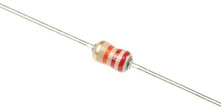 TE Connectivity 22kΩ Carbon Film Resistor 0.25W ±5% CFR16J22K (10)