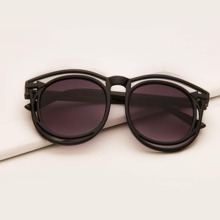 Kids Hollow Out Acrylic Frame Sunglasses