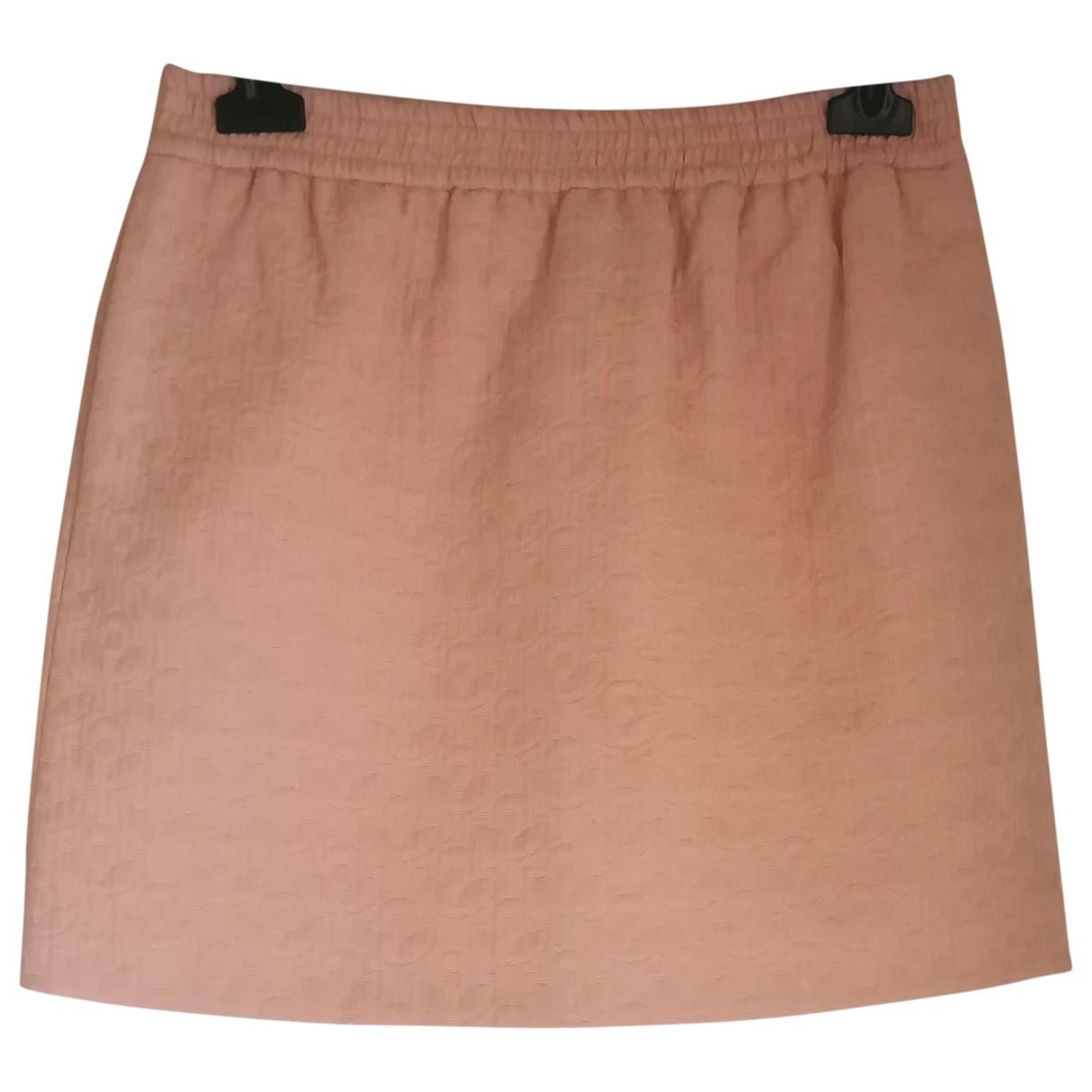 Tara Jarmon \N Orange Cotton skirt for Women 36 FR