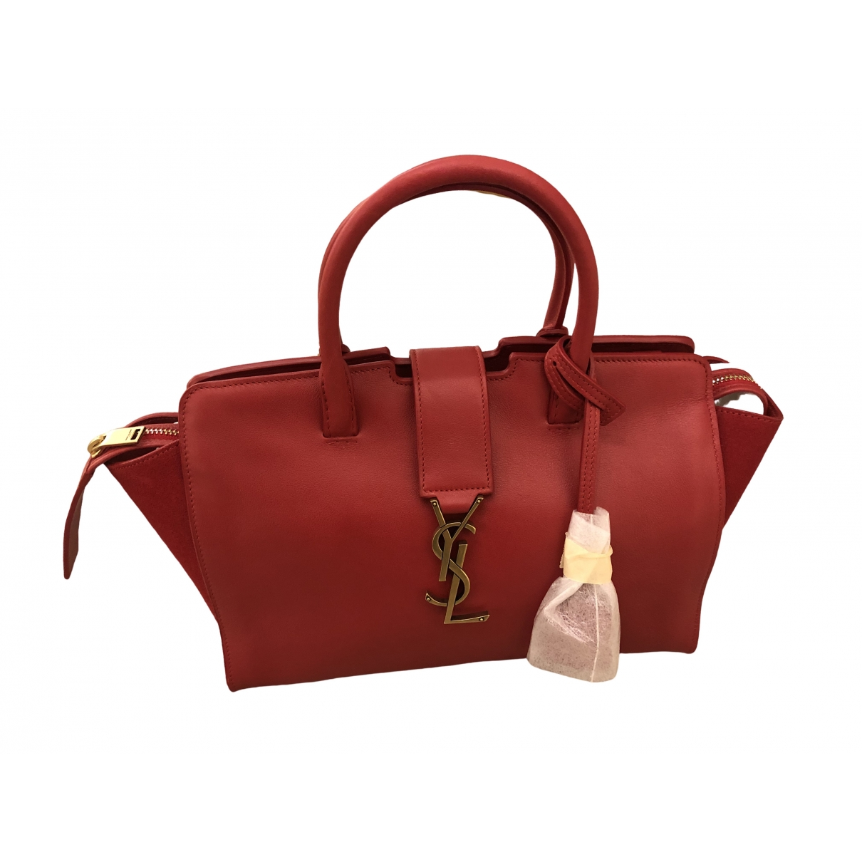 Saint Laurent Cabas Toy Red Leather handbag for Women \N