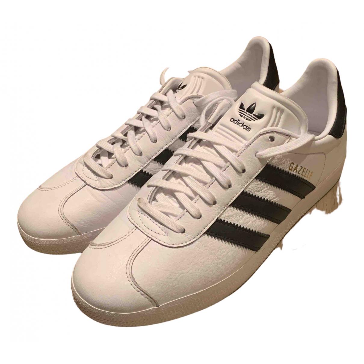 Adidas - Baskets Gazelle pour femme en cuir - blanc
