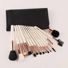 15 Stuecke Makeup Pinsel Set & 1 Stueck Etui