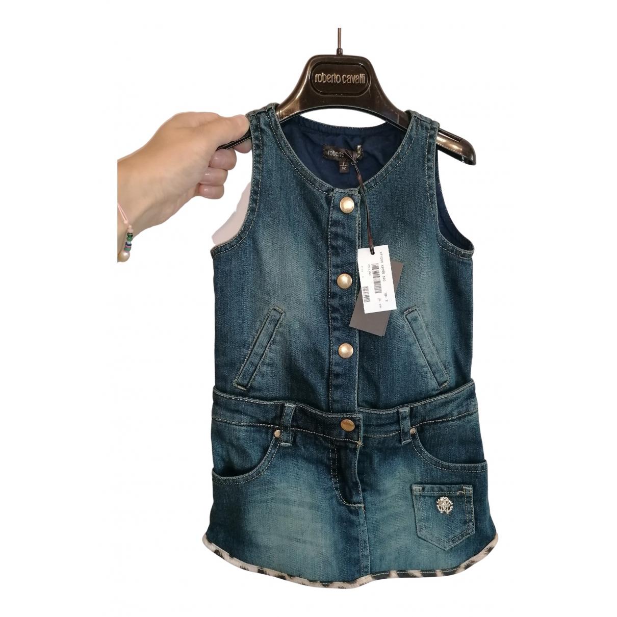 Roberto Cavalli \N Kleid in  Blau Denim - Jeans