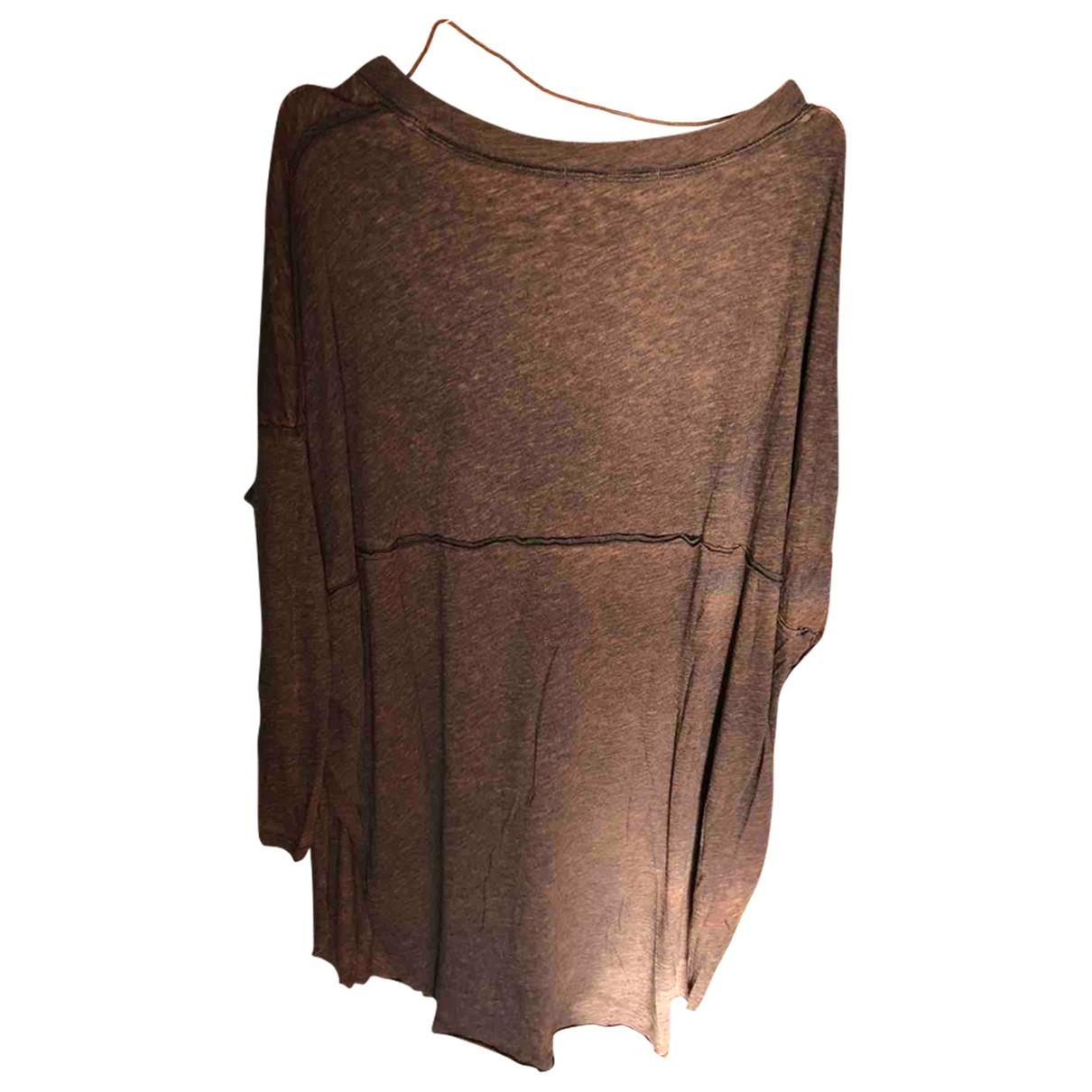 - Top Oversize pour femme en coton - marron