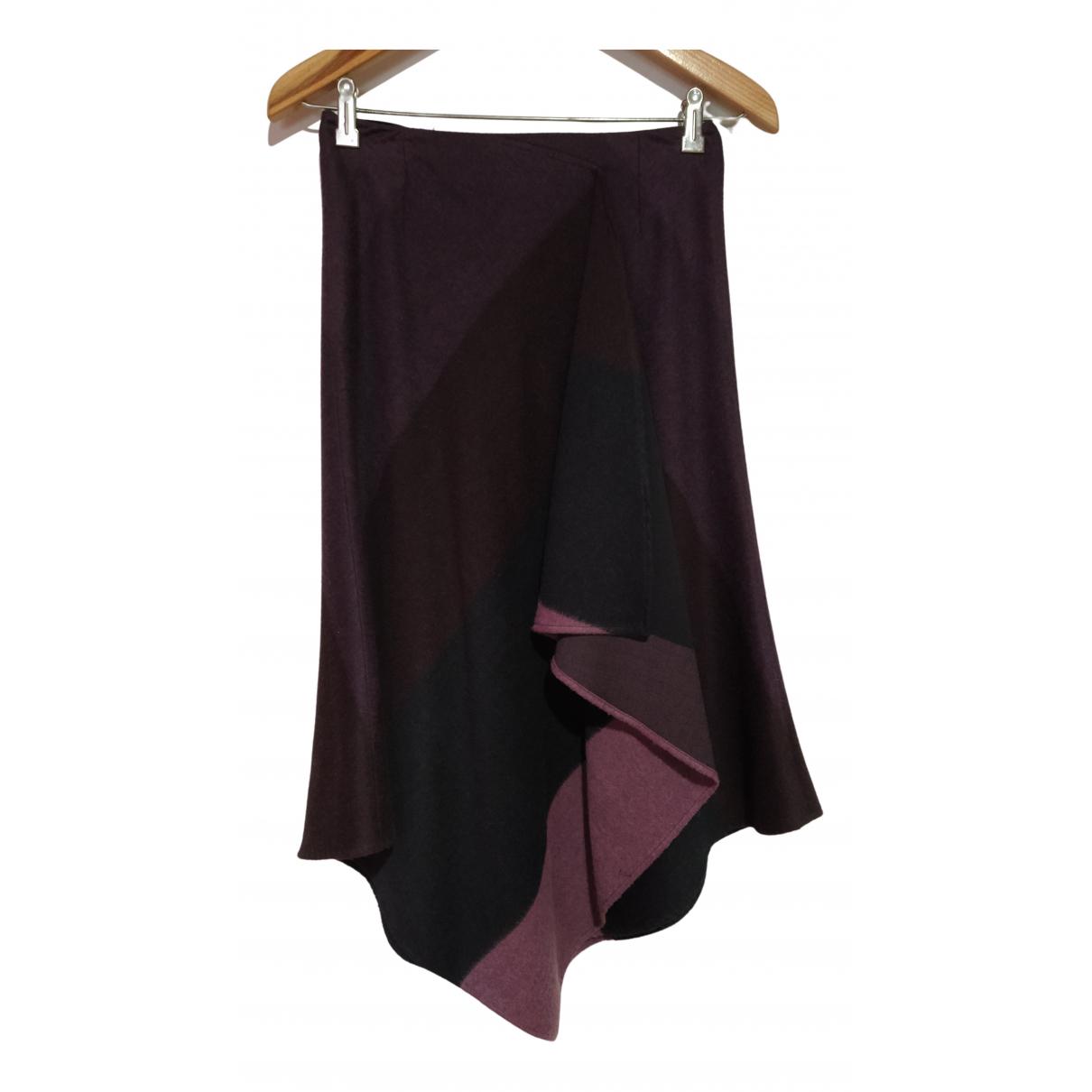 - Jupe   pour femme en laine - violet