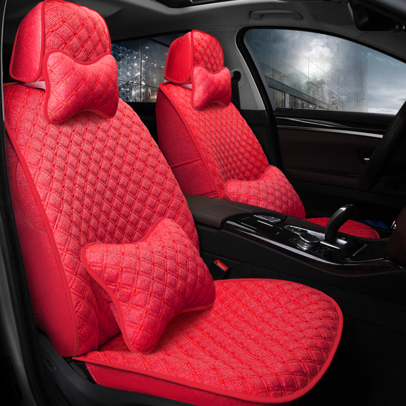 Extreme Comfort Flax Material Mini Cushions Design Custom Fit Car Seat Covers