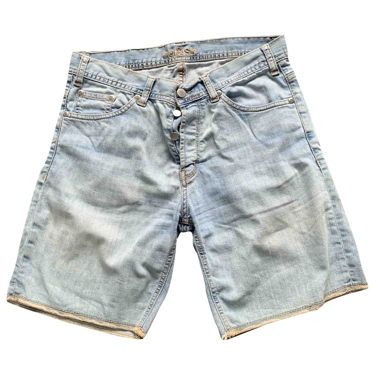 Ba&sh \N Blue Cotton Shorts for Women 36 FR