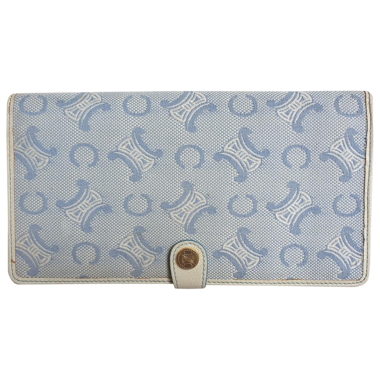 Celine \N Blue Cloth wallet for Women \N